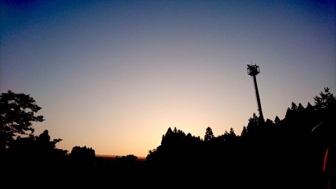 朝の5時過ぎ、黎明。